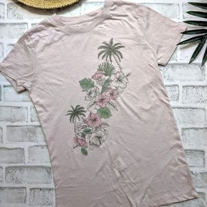 Aeropostale pink tropical classic crew t-shirt